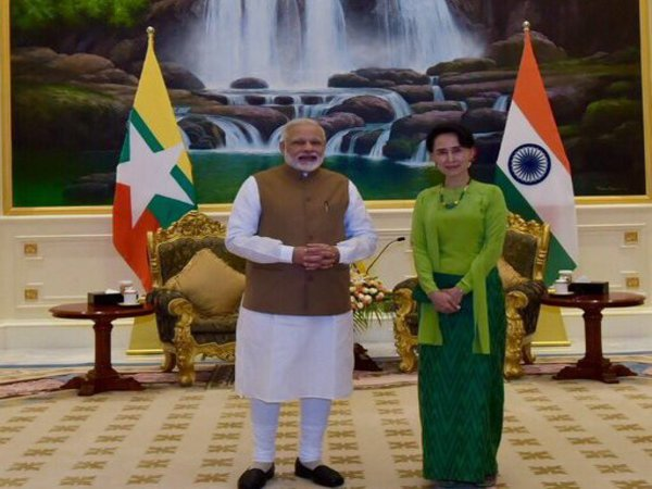 Modi in Myanmar on first bilateral visit