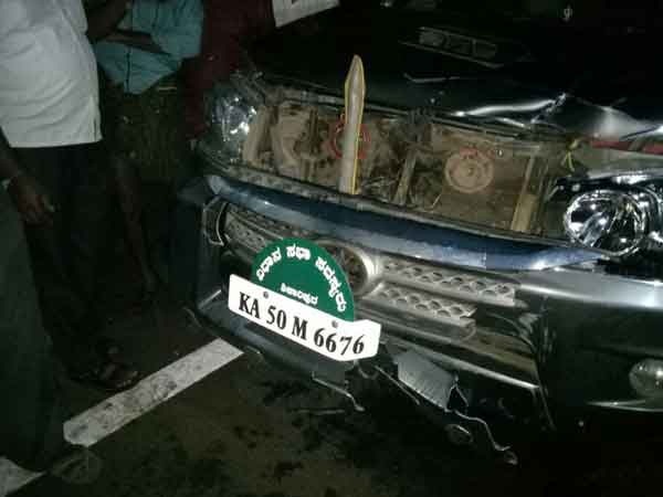 Yeddyurappa's son's SUV runs over pedestrian in Karnataka