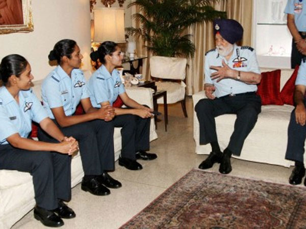 Pilots with Late Marshal of the Indian Air Force (MIAF) Arjan Singh