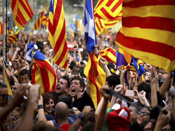 [Catalan parliament declares independence from Spain]