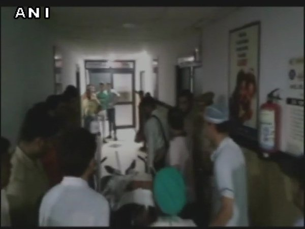BJP leader shot at in Uttar Pradesh's Moradabad. Courtesy: ANI news