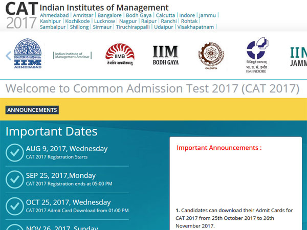 IIM CAT 2017 admit card: How to download, latest update from IIM Lucknow