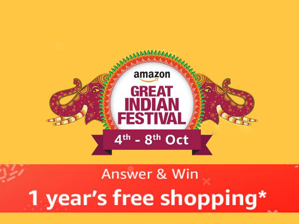 IT'S BACK! Amazon Great Indian Festival (4th - 8th Oct) - Upto 80% Off & Win 1 Year's Free Shopping*
