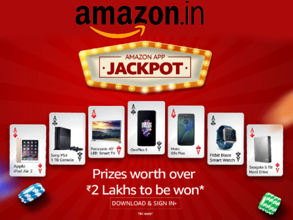 Amazon App Only: Grab a Free iPad Air 2, Smart TVs Upto Rs.2 Lakh Worth Prizes*