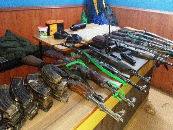 Police recover large cache of sophisticated arms in the Darjeeling Hills