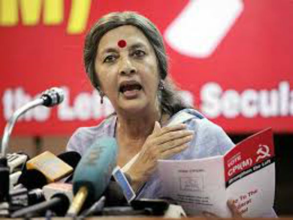 Shah inciting violence against CPI(M), alleges Brinda Karat