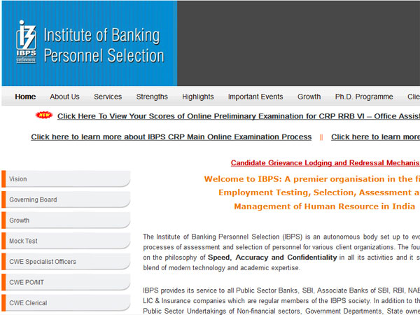 IBPS RRB Office Assistants prelims exam score card released at ibps.in, check now