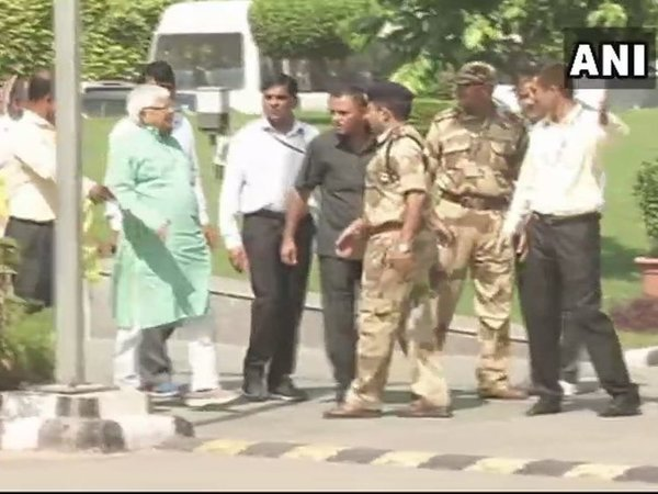 IRCTC hotels scam: Lalu Prasad Yadav appears before CBI. Courtesy: ANI news