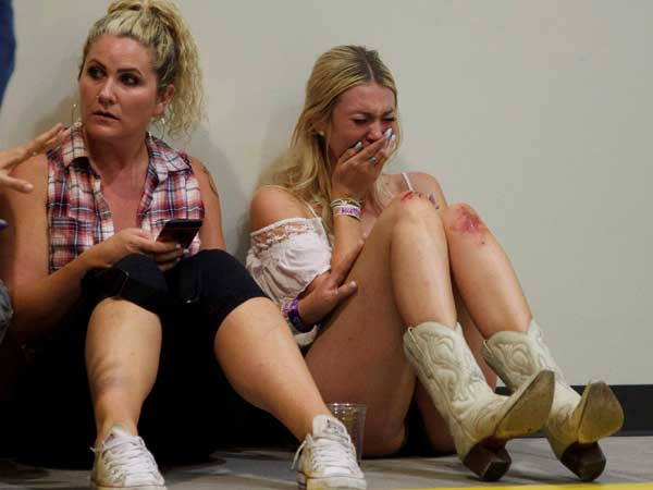 Las Vegas shooting: Fear, tear captured in pictures