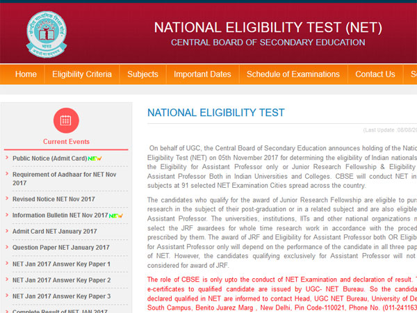 CBSE UGC NET 2018 online registration starts today, how to apply