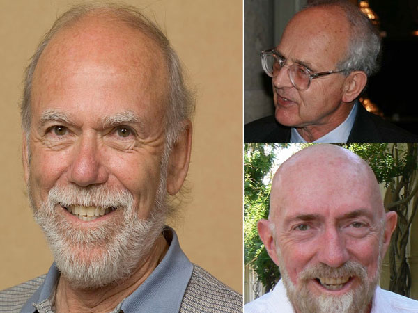 Barry Barish, Rainier Weiss and Kip Thorne. Courtesy: @NobelPrize