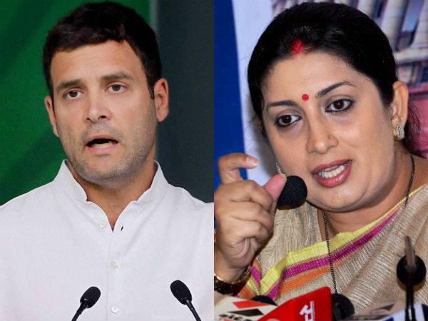 Lage raho bhai, Gujarat phir bhi haroge, Smriti Irani tells Rahul Gandhi
