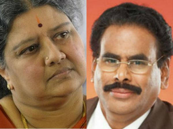 Sasikala and her husband Natarajan