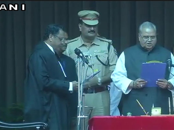 Satyapal Malik takes oath as the governor of Bihar in Patna. Courtesy: ANI news