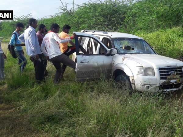Car mows down school kids in Baramati vehicle belongs to Shiv Sena leader allege locals