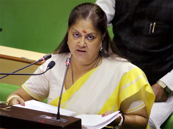 Rajasthan CM Vasundhara Raje. PTI file photo