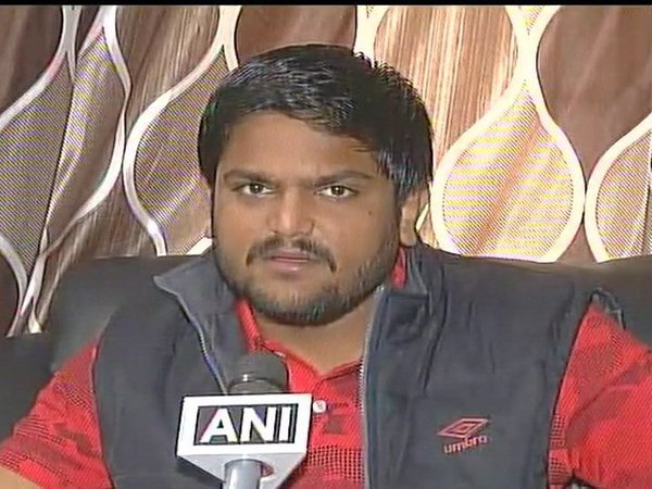 Patidar community leader Hardik Patel. Courtesy ANI news