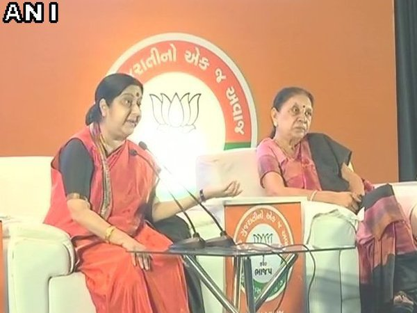 Sushma urges women in Gujarat to take max benefit of govt schemes