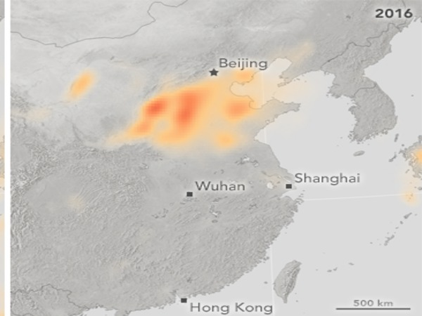 2016: Sulfur dioxide levels in China