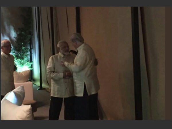 PM Modi meets Donald Trump. Photo credit: ANI