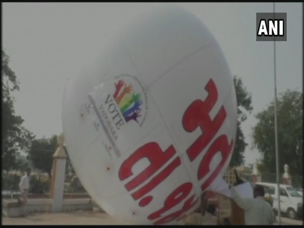 Balloons being used to create voter awareness