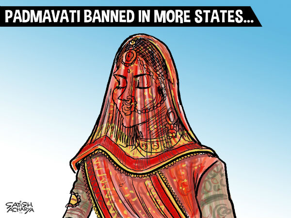 After protests and threats, states like Madhya Pradesh and Gujarat have banned the screening of the film, Padmavati.