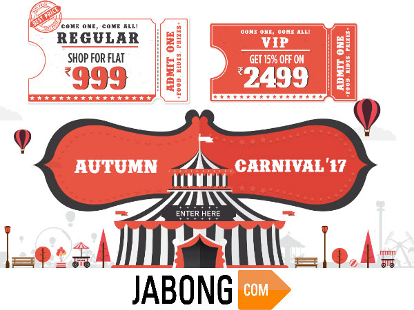 Jabong Autumn Carnival'17! Everything Under Rs.999/-*