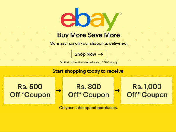 AWAITS FOR YOU! Rs. 1000 FREE Shopping Coupon* From eBay