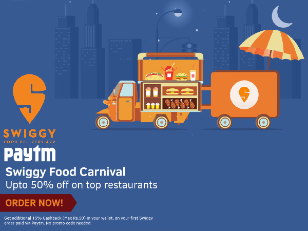 Swiggy Food Fiesta! Up to 50% Off* on Top Restaurants