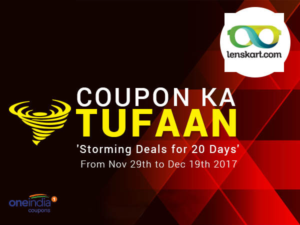 COUPON KA TUFAAN: Lenskart, Buy 1 Get 1 Free* (Two Days Left)