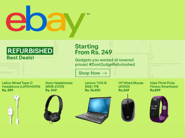 eBay Refurbished Deals! Unbox Products from Rs. 129 Onwards