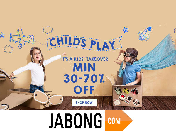 Jabong: Big Offers for Your Little Ones, Upto 70% Discount*
