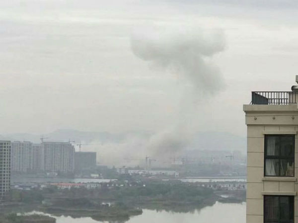 Large explosion reported in Chinese port city of Ningbo