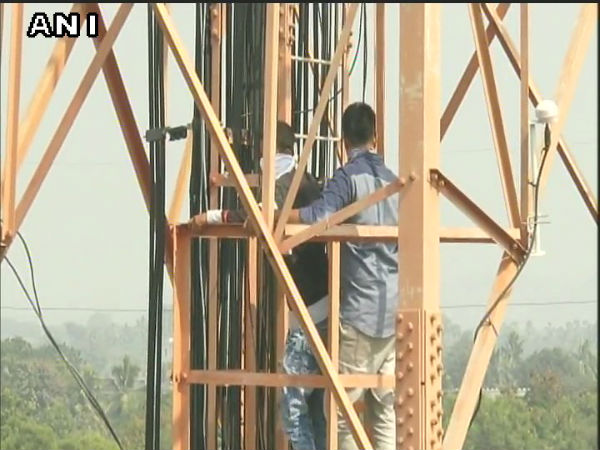AP: Students of Fathima College climb cell tower
