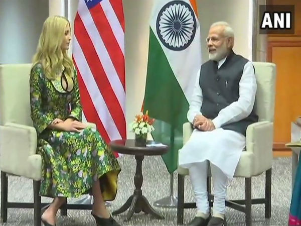 GES 2017: Ivanka Trump arrives for Business meet