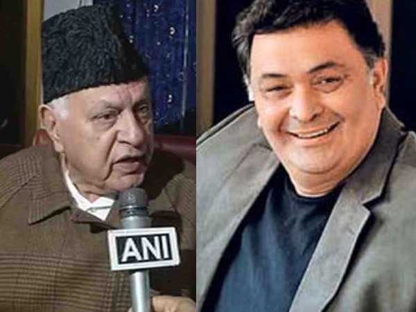 Complaint against Farooq Abdullah, Rishi Kapoor over remarks on PoK