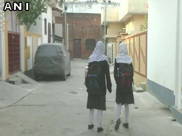 A school in Uttar Pradesh's Barabanki has banned Muslim students from wearing 'hijab. Courtesy: ANI news