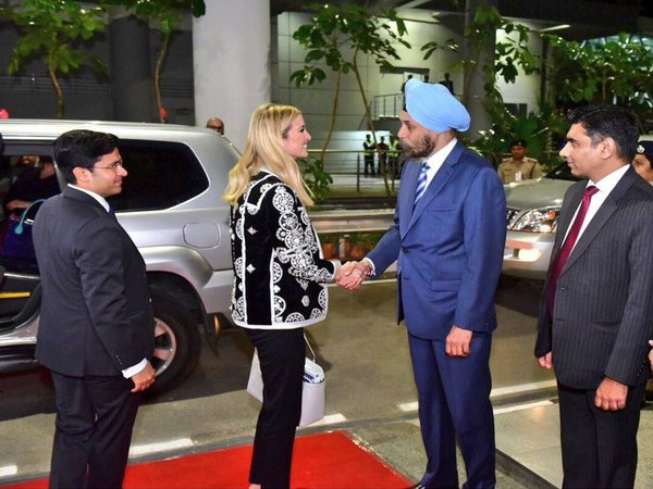 Hyderabad: Ivanka Trump reaches Hotel Trident in special vehicle