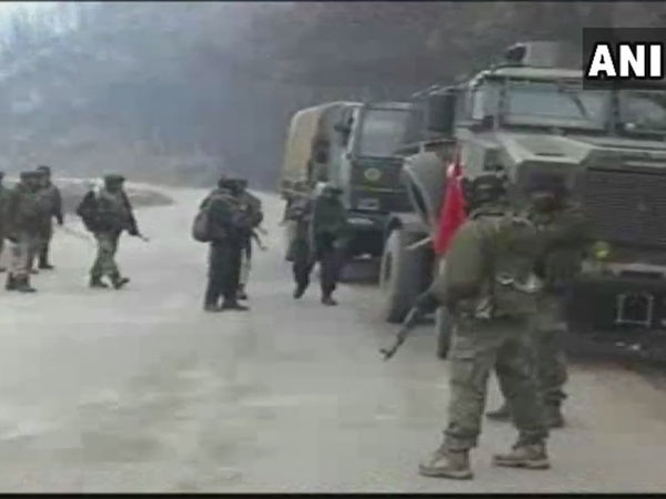 Three LeT terrorists belonging to Pakistan, gunned down by security forces in Magam area of Handwara district. Courtesy: ANI news