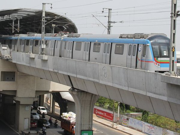 Hyderabad Metro Rail opens to public today, passengers elated. Courtesy: @hmrgov