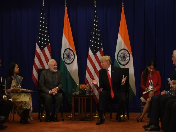 Modi and Trump met on the sidelines of the 15th ASEAN-India summit in the Philippines.
