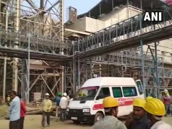 Ash-pipe explosion at NTPC plant; at least 100 injured. Courtesy: ANI news