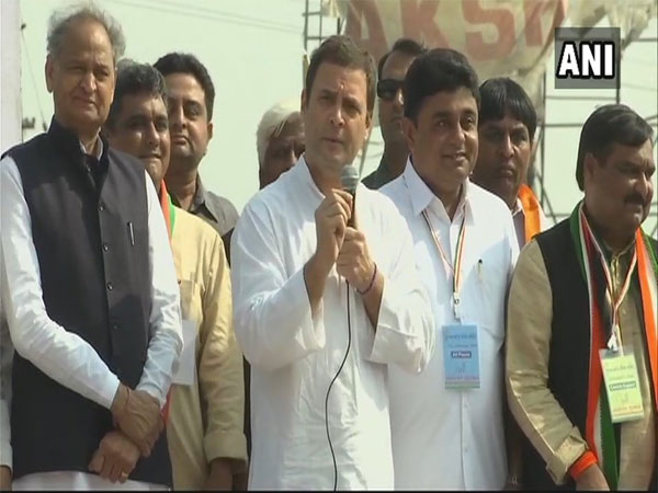 Rahul Gandhi in Chiloda, Gandhinagar. Courtesy: ANI news