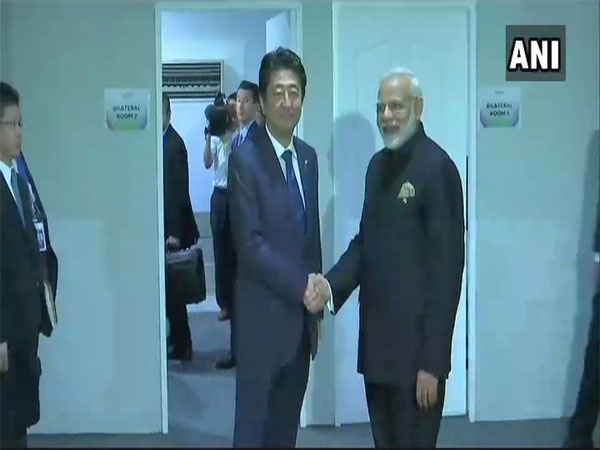 PM Modi holds bilateral talks with his Japanese counterpart Shinzo Abe