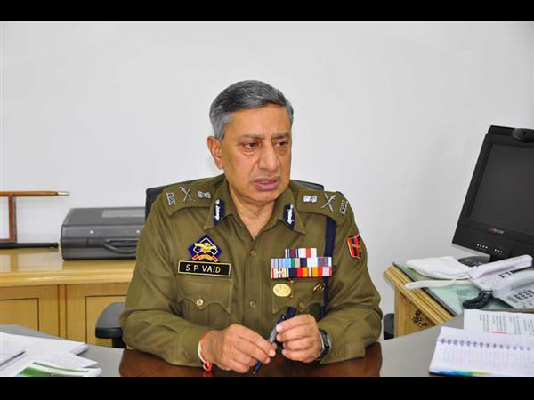 Director General of Police, Jammu and Kashmir, S P Vaid