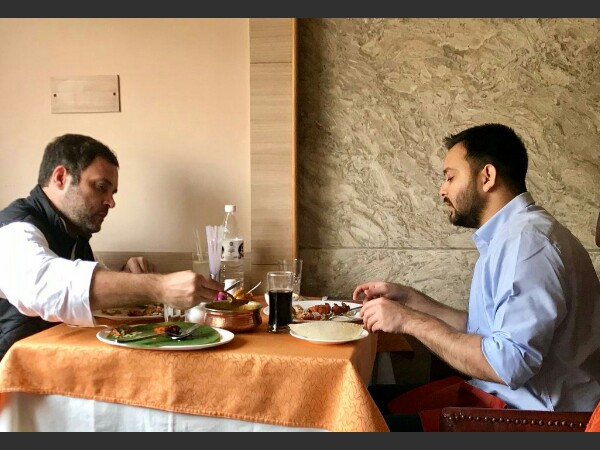 Rahul Gandhi and Tejashwi Yadav on dinner date