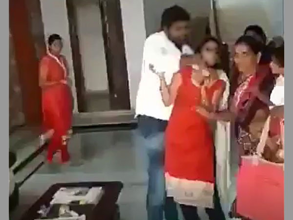 Caught on cam: TRS youth wing leader thrashes wife, arrested
