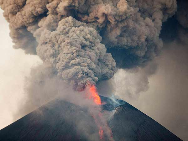 Image result for Bali raises volcano alert to highest level: Officials, The alert for a volcano be
