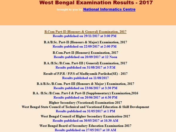 Calcutta University BA BSc Part 1 results 2017 declared, check now