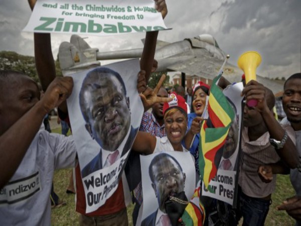 Supporters of Emmerson Mnangagwa